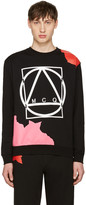 McQ by Alexander McQueen Black Abstract Icon Clean Pullover