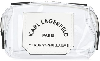 Karl Lagerfeld Paris K/Journey transparent washbag