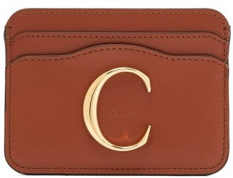 Chloé The C Leather Cardholder - Womens - Dark Brown