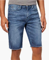 GUESS Men's Slim-Fit Raw-Edge Stretch Denim Shorts