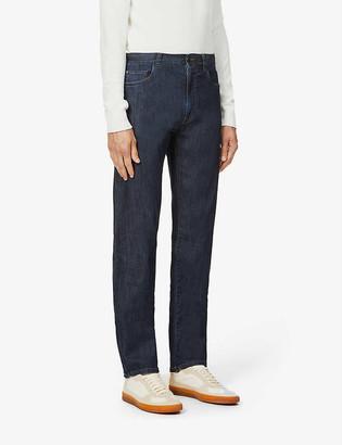 Canali Straight-leg stretch-denim jeans