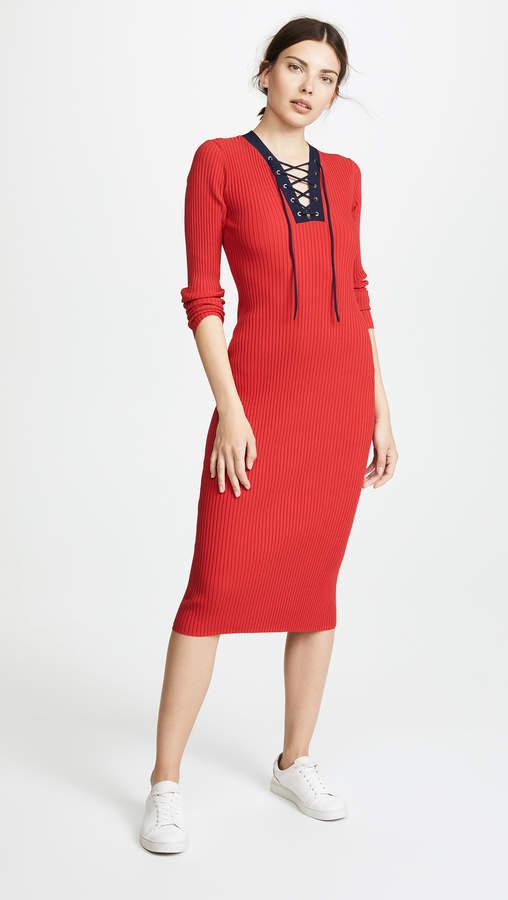 Diane von Furstenberg Lace Up Sweater Dress