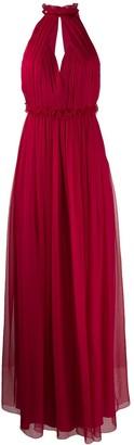 Alberta Ferretti halterneck long dress