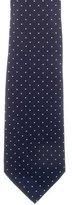 Ralph Lauren Purple Label Silk Polka Dot Print Tie