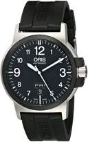 Oris Men's 73576414364RS BC3 Sportsman Day Date Rubber Strap Watch