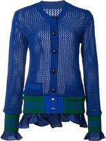 Sacai open knit cardigan - women - Cotton/Polyester - 1