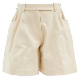 Simone Rocha Puffed Cotton-drill Shorts - Cream
