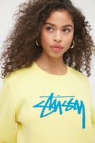 Stussy Stock Logo Crew Neck Sweatshirt