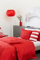Lacoste Brushed Twill Comforter Set - Rococco Red