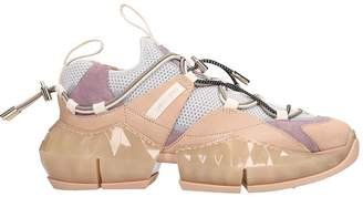 Jimmy Choo Diamond Trail Sneakers In Rose-pink Tech/synthetic