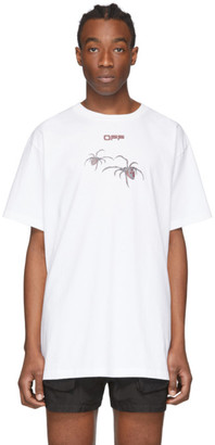 Off-White White and Red Arachno Arrows Over T-Shirt
