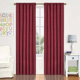 Eclipse Curtains Eclipse Kids Kendall Blackout Thermal Curtain Panel,Chili,63-Inch