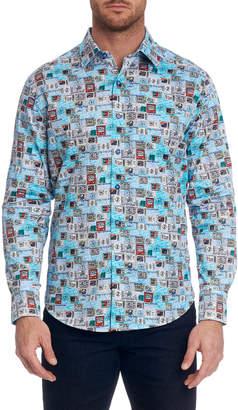 Robert Graham Men's Stay Tuned Graphic Sport Shirt