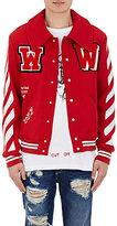 Off-White Men's Varsity Jacket-RED