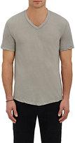 James Perse Men's Cotton V-Neck T-Shirt-BROWN, TAN