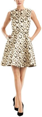 Josie Natori Leopard Sheath Dress