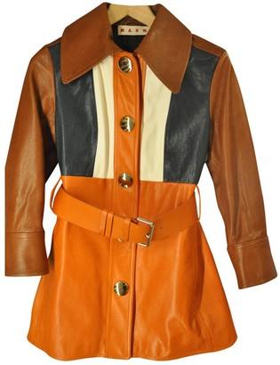 Marni Orange Leather Jackets