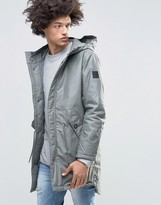 Cheap Monday Cage Hooded Parka Gray