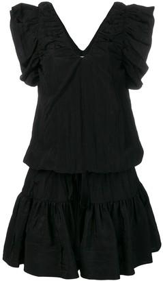 Victoria Victoria Beckham V-neck ruffle dress