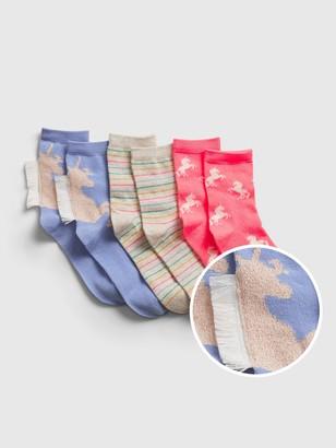Gap Kids Unicorn Crew Socks (3-Pack)