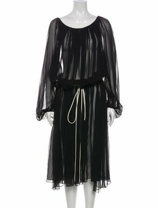 By. Bonnie Young Scoop Neck Long Dress Black