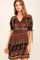 O'Neill Lottie Black Print Dress