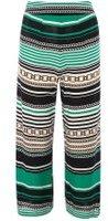 Dorothy Perkins Womens Chain Print Crop Trousers- Green