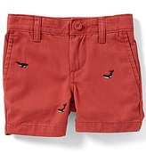 Class Club Little Boys 2T-7 Embroidered Whale Shorts