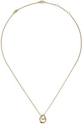 Georg Jensen 18kt yellow gold Offspring pendant necklace
