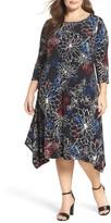 Vince Camuto Plus Size Women's Floral Coastline A-Line Dress