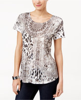 Style&Co. Style & Co. Short-Sleeve Printed Top, Only at Macy's