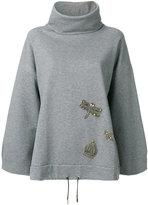 Eleventy embellished sweatshirt