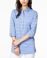 Tommy Hilfiger Cotton Striped Popover Shirt, Only at Macy's