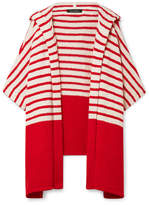 Tabula Rasa - Jahan Striped Cotton-blend Terry Hooded Wrap - Red
