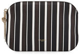 Nina Ricci Elide Striped Leather Clutch Bag