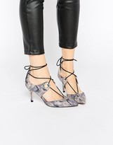 Asos SILHOUETTE Lace Up Pointed Heels