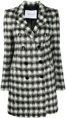 Redemption Gingham Check-Print Midi Coat