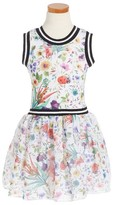 Toddler Girl's Twirls & Twigs Floral Print Sleeveless Dress