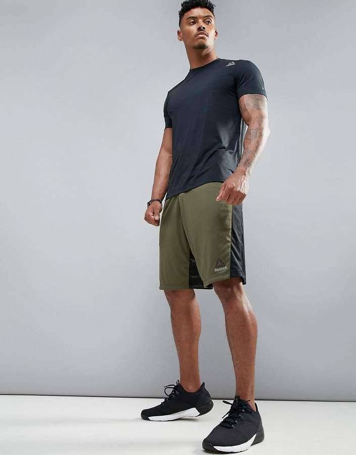 Reebok Training Speedwick Shorts In Green Br9641