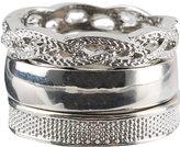 Solid Mesh Braid Ring Set
