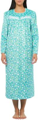 Jasmine Rose Floral Long-Sleeve Nightgown