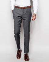 Asos Wedding Skinny Suit Trousers In Tonic