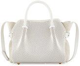 Nina Ricci Marche Extra-Small Leather Satchel Bag, White