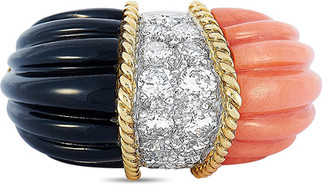 Heritage 18K 1.25 Ct. Tw. Diamond & Coral Ring