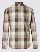 Marks and Spencer Pure Cotton Block Checked Shirt