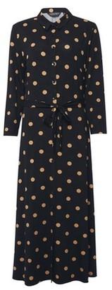 Dorothy Perkins Womens Dpt All Black Spot Print Jersey Shirt Dress