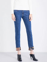 Stella McCartney Boyfriend-fit mid-rise floral-cuffs jeans