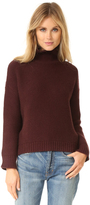 Vince Cowl Horizontal Rib Sweater
