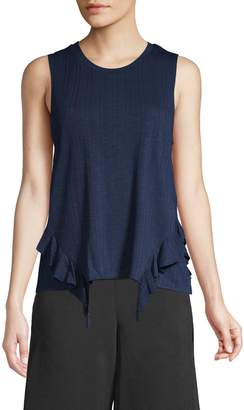 BCBGeneration Ruffle-Trimmed Tank Top