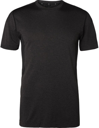 Reigning Champ Performance Mesh-Panelled Melange Jersey T-Shirt - Men - Black